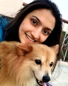 Vaishnavi Gowda pet dog