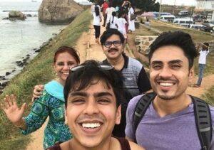 Adarsh Gourav on family trip