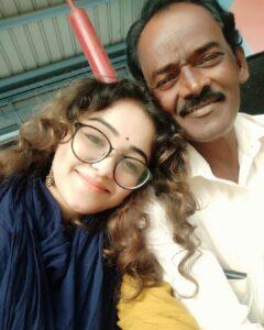 Dhanushree father parents