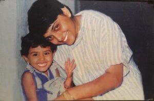 Nidhi Subbaiah childhood pic