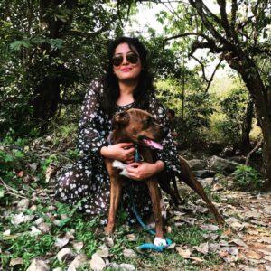 Nidhi Subbaiah pet dog