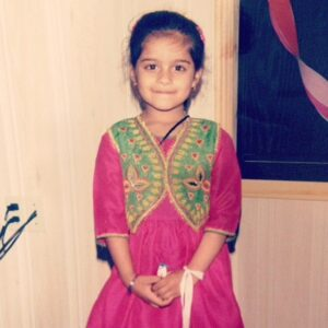 Childhood picture of Lilly Singh