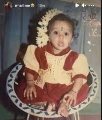 Dhanushree childhood pic