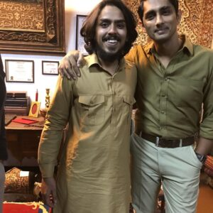 Adarsh Gourav with Siddharth Bhanu On Leila set