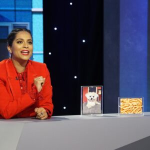 Lilly hosting her show A Little late with Lilly